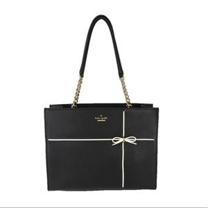 Kate Spade Bow Phoebe Leather Tote Bag, Black